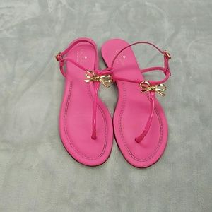 Kate spade pink with gold bow sandals size 11